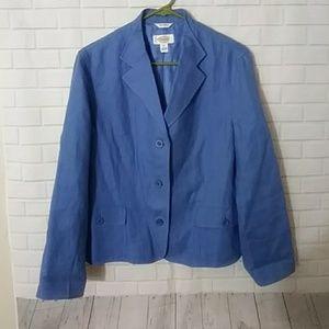 Talbots fresh Linen Blazer Jacket 12